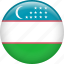 country, flag, nation, uzbekistan icon