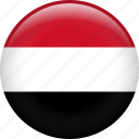 yemen, country, flag, nation icon