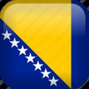bosnia and herzegovina, country, flag icon