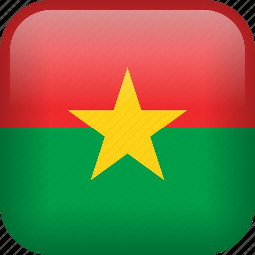burkina faso, country, flag icon