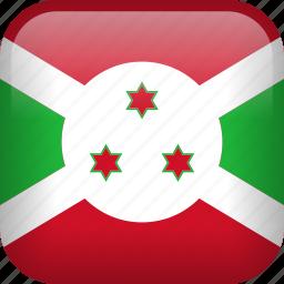 burundi, country, flag icon