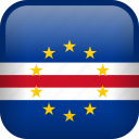cape verde, country, flag icon