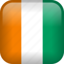 cote d'ivoire, country, flag, ivory coast, national icon