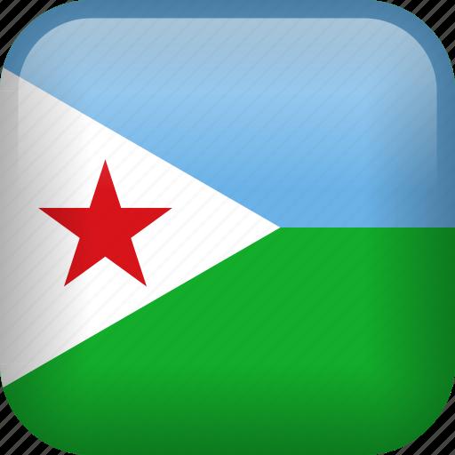 country, djibouti, flag icon