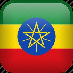 country, ethiopia, flag icon