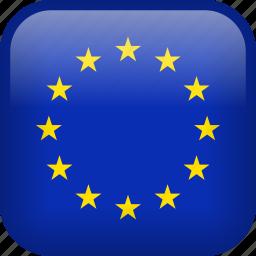 eu, euro, europe, european, flag, union icon