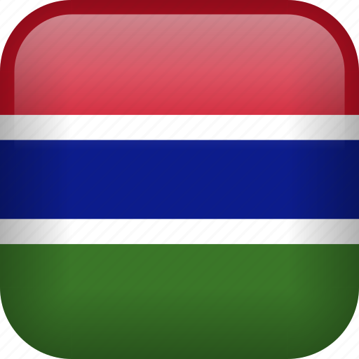 country, flag, gambia icon