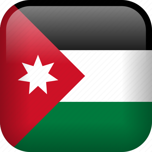country, flag, jordan icon