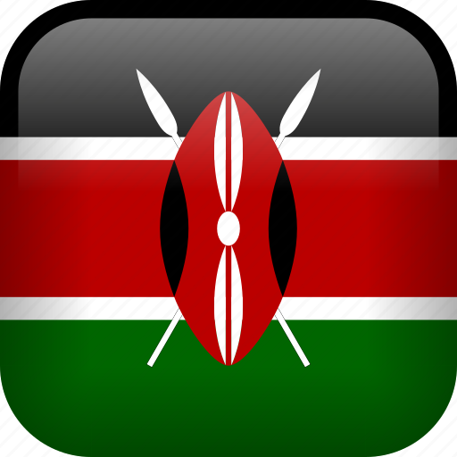 country, flag, kenya icon