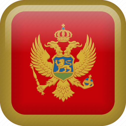 country, flag, montenegro icon