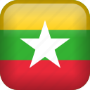 burma, country, flag, myanmar icon