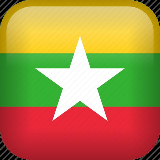 burma, country, flag, myanmar icon