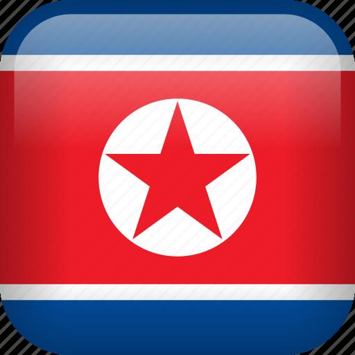 country, flag, korea, north korea icon
