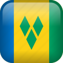 country, flag, saint vincent and the grenadines icon