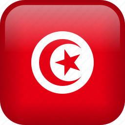 country, flag, tunisia icon
