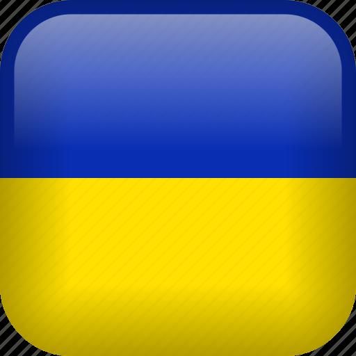 country, flag, ukraine icon