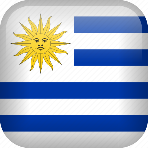 country, flag, uruguay icon