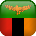 country, flag, zambia icon