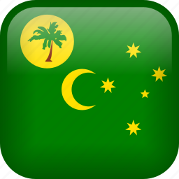 cocos, cocos island, country, flag icon
