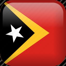 country, east timor, flag, timor-leste icon