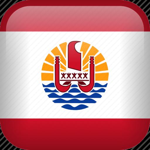 country, flag, french polynesia icon