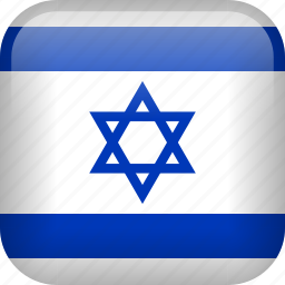 country, flag, israel icon