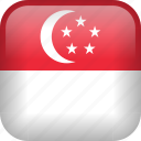 country, flag, singapore icon