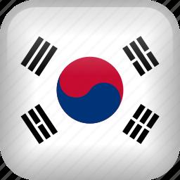 country, flag, korea, south korea icon