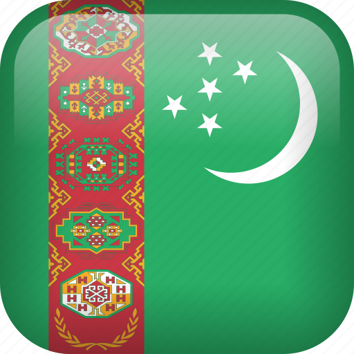 country, flag, turkmenistan icon