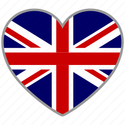 britain, british, england, europe, flag heart, kingdom, love icon