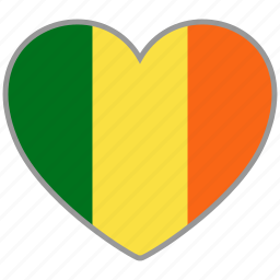 country, flag, flag heart, ireland, love, nation icon