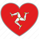 country, flag, flag heart, isleofman, love, nation icon