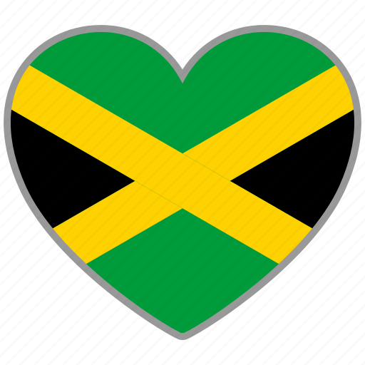 country, flag, flag heart, jamaica, love, nation icon