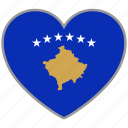 country, flag, flag heart, kosovo, love, nation icon