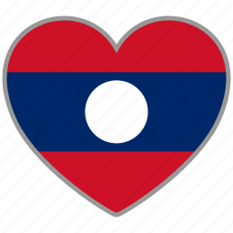 country, flag, flag heart, laos, love, nation icon