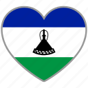 country, flag, flag heart, lesotho, love, nation icon