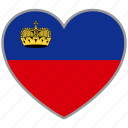country, flag, flag heart, liechtenstein, love, nation icon
