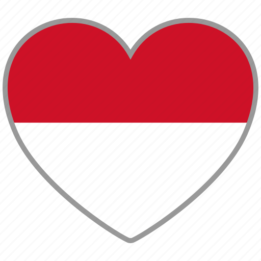 country, flag, flag heart, love, monaco, nation icon