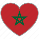 flag heart, morocco, country, flag, national, love icon