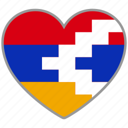 country, flag, flag heart, love, nagorno, nation icon