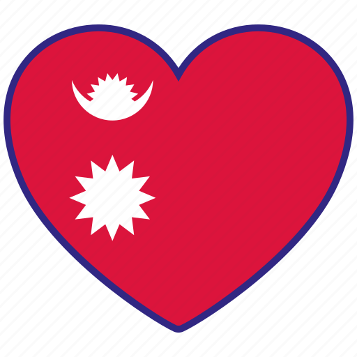 'World flags heart' by Milinda Courey