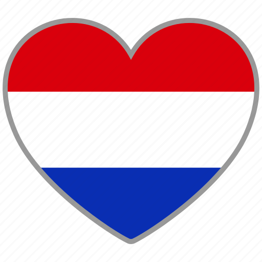 country, flag, flag heart, love, national, netherlands icon