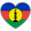 flag, flag heart, love, new caledonia icon
