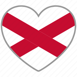 flag, flag heart, love, northern ireland icon