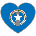 flag, flag heart, love, northern mariana islands icon