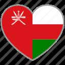 flag heart, oman, country, flag, national, love