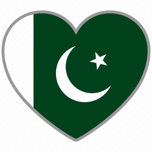 Flag heart, pakistan, country, flag, national, love icon - Download on Iconfinder