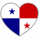 country, flag, flag heart, love, national, panama icon