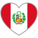 flag heart, peru, country, flag, national, love