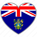 flag, flag heart, love, pitcairn island icon